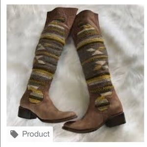 Freebird over the knee wool boots.
